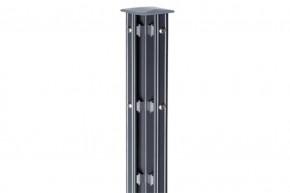 Zaunpfosten Doppelstabgitterzaun Eckpfosten Typ P-fix RAL 7016 anthrazitgrau - Länge: 2400 mm