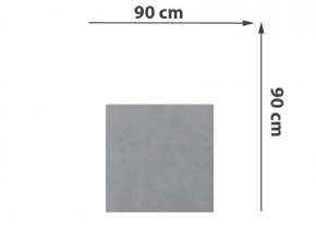 TraumGarten Sichtschutzzaun System Keramik Rechteck Zement - 90 x 90 x 0,6 cm