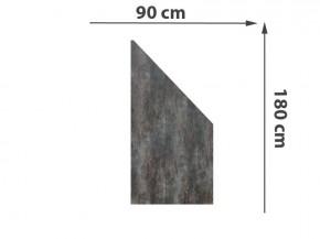 TraumGarten Sichtschutzzaun System Keramik Anschluss Darknight - 90 x 180/90 x 0,6 cm