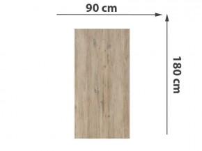 TraumGarten Sichtschutzzaun System Keramik Rechteck Eiche - 90 x 180 x 0,6 cm