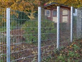 Doppelstabgitterzaun Metallzaun 8/6/8 MAX silbergrau verzinkt - Höhe: 2230 mm