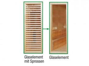 Wolff Finnhaus Sauna Paradiso: Tausch Sprossenwand gegen Glaswand