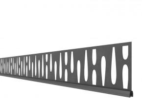TraumGarten SYSTEM Dekorprofil-Set Omega Anthrazit Metall/flach 15 cm