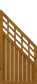 TraumGarten Sichtschutzzaun Como Anschluss mit Gitter braun lasiert - 89 x 178 auf 89 cm