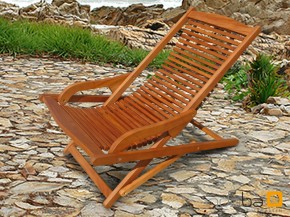 Gartenmöbel Realx Chair Sun Flair aus Eukalyptus