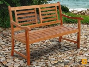 Gartenmöbel Gartenbank 2-Sitzer Sun Flair aus Eukalyptus