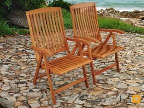 Gartenmöbel Gartenstuhl Set 2-teilig Sun Flair aus Eukalyptus