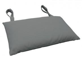 Gartenmöbel Kopfkissen Premium extra dick - Farbe: grau
