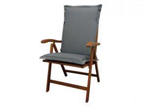 Gartenmöbel Sitzauflage Hochlehner Premium extra dick - Farbe: grau