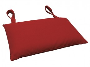 Gartenmöbel Kopfkissen Premium extra dick - Farbe: rot