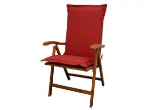 Gartenmöbel Sitzauflage Hochlehner Premium extra dick - Farbe: rot