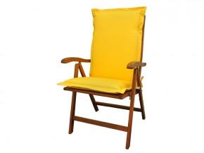Gartenmöbel Sitzauflage Hochlehner Premium extra dick - Farbe: gelb