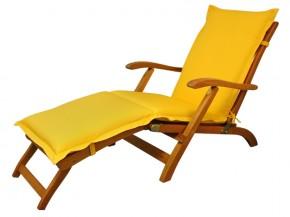 Gartenmöbel Polsterauflage Deck Chair Premium extra dick - Farbe: gelb