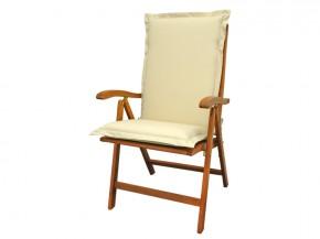 Gartenmöbel Sitzauflage Hochlehner Premium extra dick - Farbe: beige
