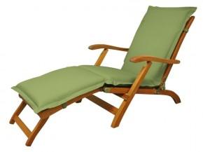 Gartenmöbel Polsterauflage Deck Chair Premium extra dick - Farbe: grün