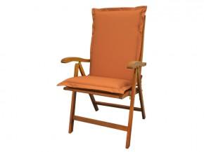 Gartenmöbel Sitzauflage Hochlehner Premium extra dick - Farbe: terra