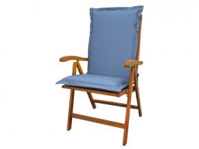 Gartenmöbel Sitzauflage Hochlehner Premium extra dick - Farbe: blau