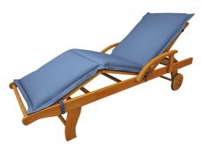 Gartenmöbel Liegenauflage Premium extra dick - Farbe: blau