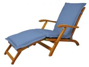Gartenmöbel Polsterauflage Deck Chair Premium extra dick - Farbe: blau