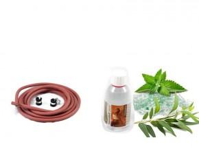 Silikonkabel + Eukalyptus/Menthol Duft
