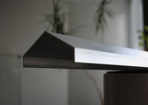 TraumGarten Aufsatzleiste Aluminium für gerade Elemente Weave - 6,8 x 180 cm