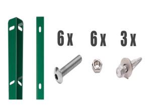 Zaunanschlussleisten Set Typ WL RAL 6005 moosgrün - Zaunhöhe : 1030 mm