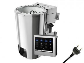 Karibu Plug&Play Saunaofen BiO-Ofen mit Außensteuerung Easy Bio 3,6 KW (230 Volt) inkl. 18 Kilo Steinen
