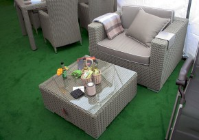 Rattan Loungeelement Espace Exclusive Sessel inkl. Polster ohne Dekokissen - Farbe: Taupe