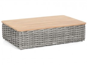 "SonnenPartner Lounge-Tisch ""Sands"" PE-Kunststoffgeflecht charcoal  B/T/H 120/80/32 cm"