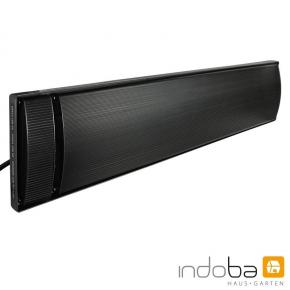 INDOBA Heizstrahler - Infrarotheizer - Dunkelstrahler - Wandmontage 84,5 cm x 4,5 cm x 17,5 cm
