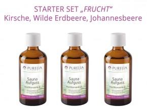 """Starter Set 1: Saunaaufguss """"Frucht"""" - 3x 50 ml - Kirsche, Erdbeere, Johannisbeere"""