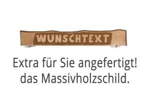 """WEKA Marktstand Almhütte """"Wunschtext"""" Schild - aus Massivholz"""