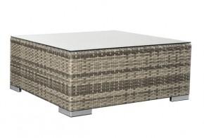Rattan XXL Loungemöbel Espace Loungetisch - Farbe: grau braun meliert