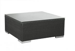 Rattan Loungeelement Espace Luxus Tisch 75x75cm - Farbe: Schwarz