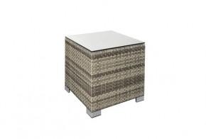 Rattan XXL Loungemöbel Espace Beistelltisch - Farbe: grau braun meliert