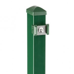 Zaunpfosten Doppelstabgitterzaun Typ PM RAL 6005 moosgrün - Länge: 1300 mm