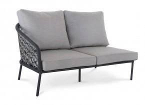 Best 2-Sitzer Couch Mali Seitenteil links, 154 x 92 x 78 cm inkl. Auflagen - anthrazit
