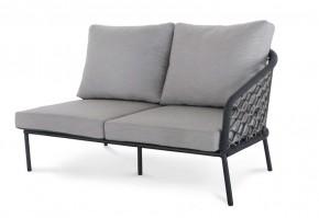 Best 2-Sitzer Couch Mali Seitenteil rechts, 154 x 92 x 78 cm inkl. Auflagen - anthrazit