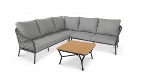 Best Lounge-Gruppe Mali, 4-tlg. Stellfläche 246 x 246 cm, inkl. Auflagen anthrazit