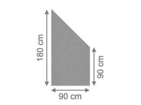 TraumGarten Sichtschutzzaun System Glas Texta Anschluß rechts - 90 x 180/90 x 0,8 cm