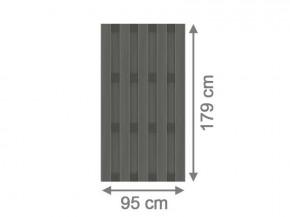 TraumGarten Sichtschutzzaun Jumbo WPC Aluminium-Design anhtrazit - 95 x 179 cm