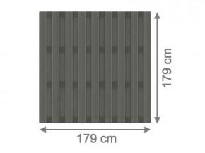 TraumGarten Sichtschutzzaun Jumbo WPC Aluminium-Design anhtrazit - 179 x 179 cm