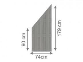 TraumGarten Sichtschutzzaun Jumbo WPC Aluminium-Design Anschluss Grau/Alu Grau 74 x 179 auf 90 cm