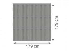 TraumGarten Sichtschutzzaun Jumbo WPC Aluminium-Design Grau/Alu Grau - 179 x 179 cm