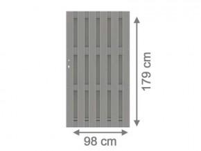TraumGarten Gartentor Jumbo WPC Aluminium-Design Grau/Alu Grau- 179 x 179 cm