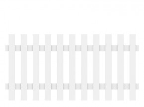 TraumGarten Vorgartenzaun Kunststoff Longlife Cara XL gerade - weiß - 180 x 90 cm