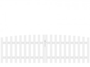TraumGarten Doppeltor Kunststoff Longlife Cara XL rund - weiß - 310 x 90 (100) cm