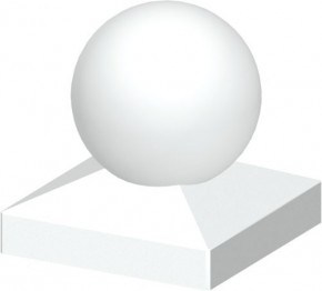 TraumGarten Pfostenkappe Longlife weiß Kugel - 8 x 8 cm