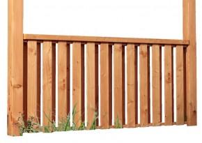 Karibu Frontelement für Terrassenüberdachung halbhoch für PREMIUM - Douglasise