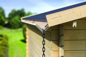Karibu Dachrinne Set 1  für Flachdachhäuser 3m - Kdi Holz